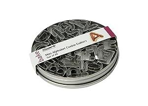 Swift Tinplate - Set de cortadores para galletas, diseño del abecedario   más información y comentarios