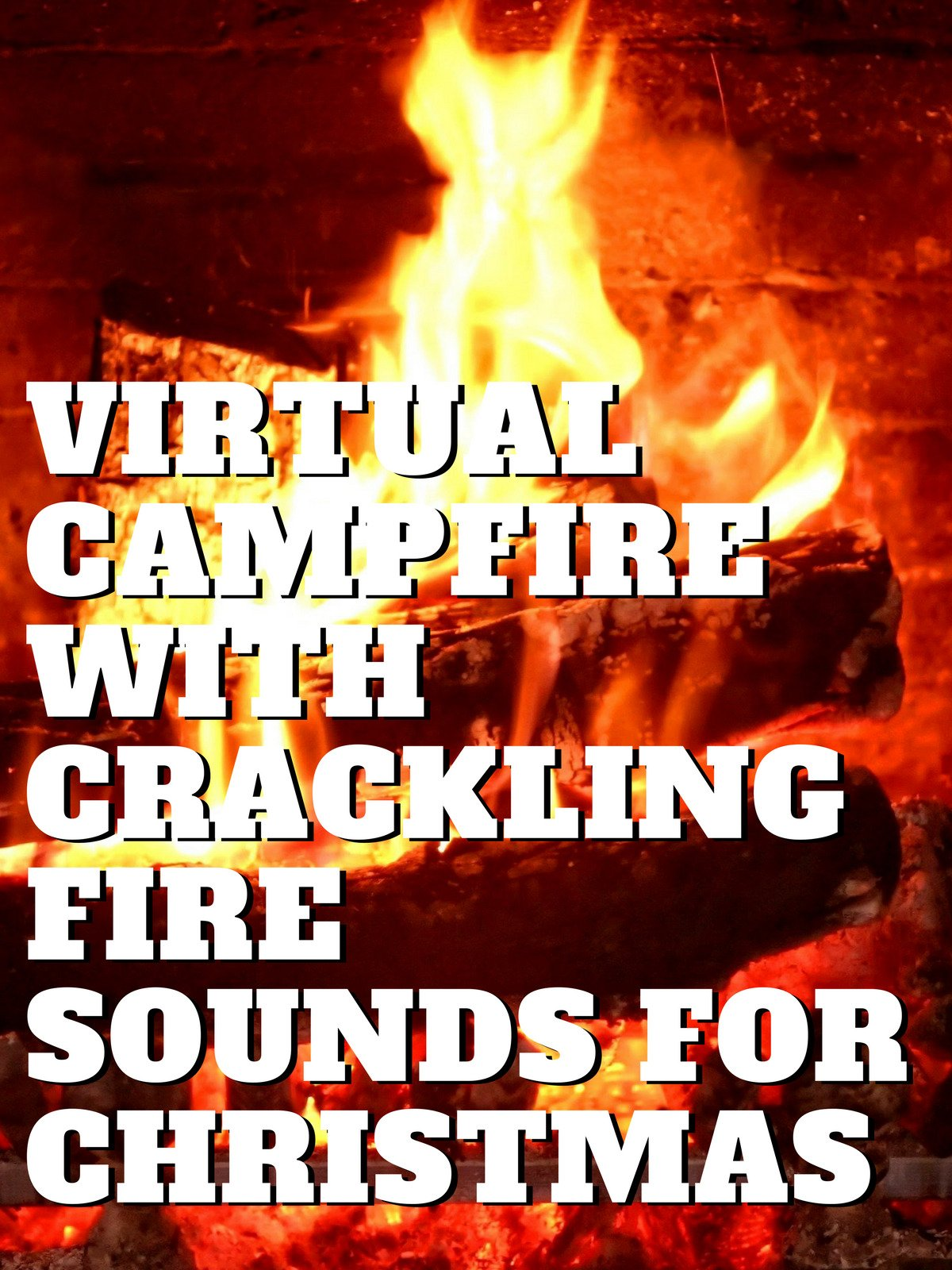 Virtual Campfire with Crackling Fire Sounds for christmas