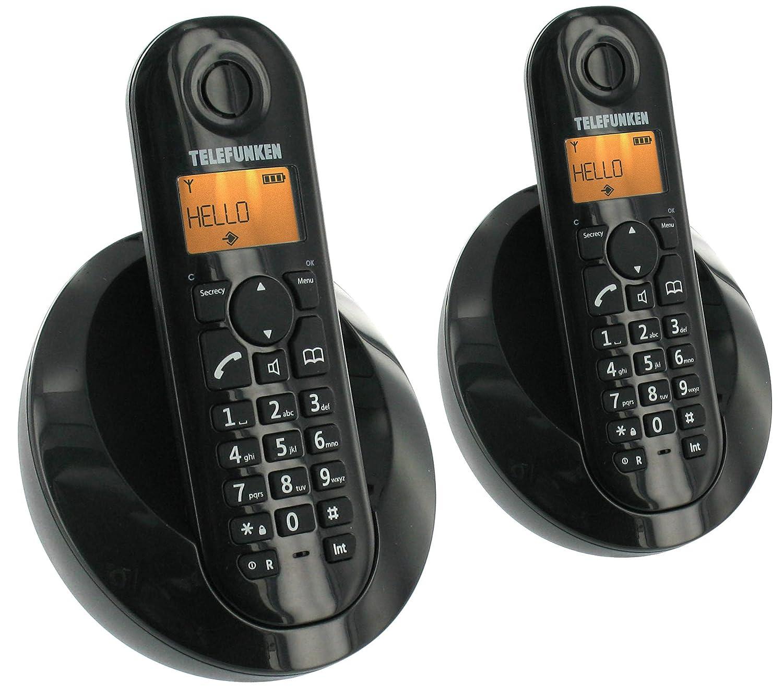 T�l�phone fixe TELEFUNKEN TB202 NOIR DUO SANS REPONDEUR