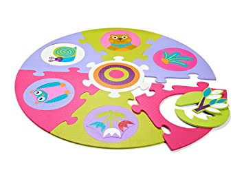 Oops Jouet De Premier Age - Dalles D'éveil - Safe And Fun Playmat - Forêt