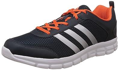 adidas Men's Marlin 5.0 M Grey, Silver and Orange Running Shoes 10 UK