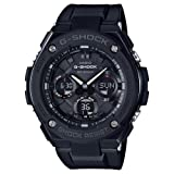 Casio Men's 'G SHOCK' Quartz Stainless Steel and Resin Casual Watch, Color:Black (Model: GST-S100G-1BCR) (Color: Black/Black)