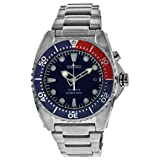 Seiko Men's SKA369 Kinetic Diver's Blue Dial, Red & Blue Bezel 200m Watch (Color: Blue)