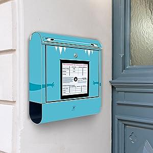 Design Briefkasten Edelstahl Briefkästen 38x42x11 von banjado mit Motiv Briefkasten   Überprüfung und Beschreibung