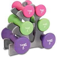 Tone Fitness 20-Pound Hourglass Neoprene Dumbbell Set with