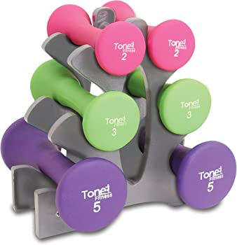 Tone Fitness 20-Pound Dumbbell Set