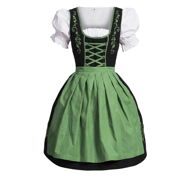 Dirndl 3 tlg.Trachtenkleid Kleid, Bluse, Schürze, Gr. 34-52 schwarz pink jetzt bestellen