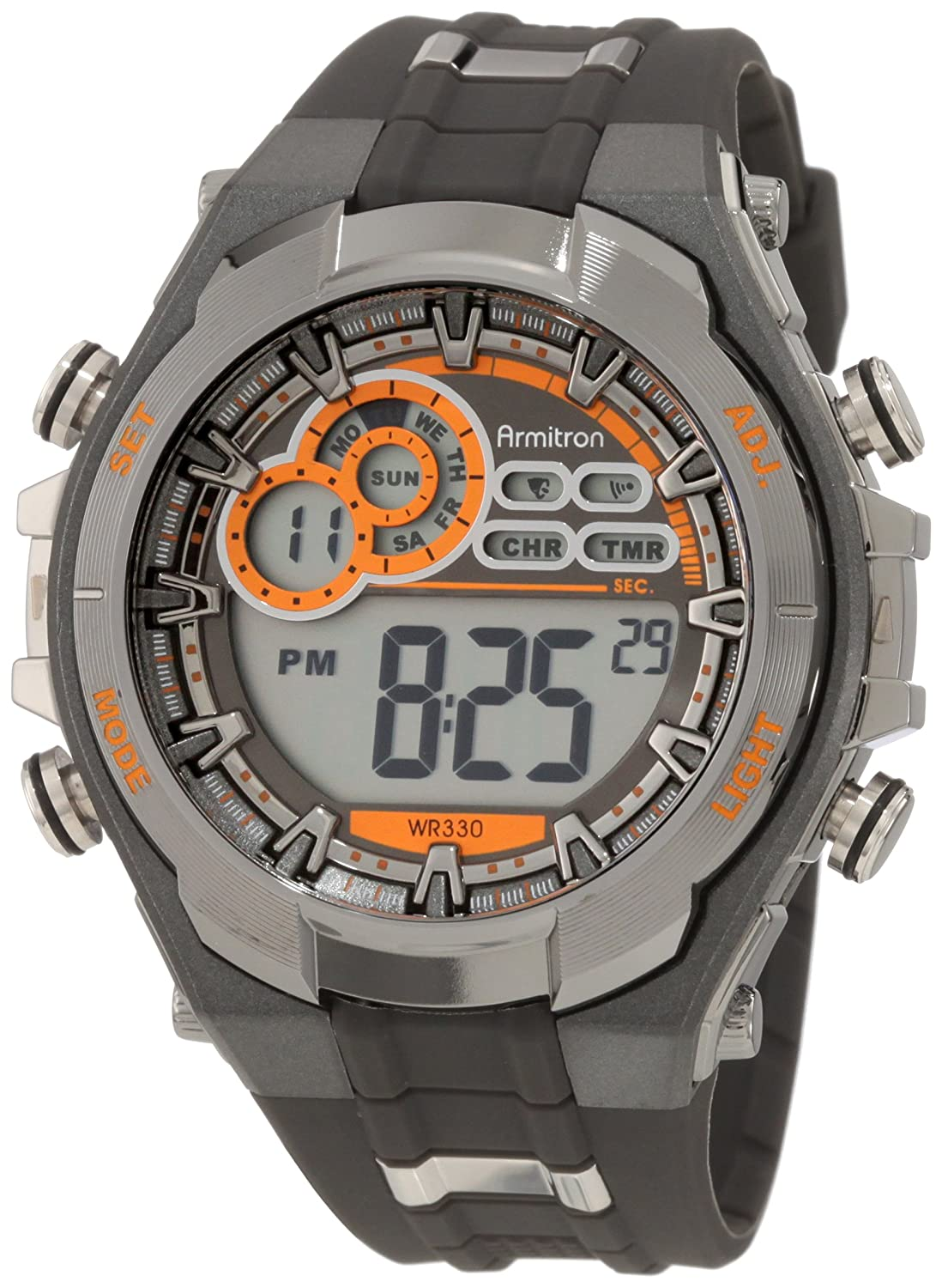 s watches armitron s 408188gmg chronograph gray