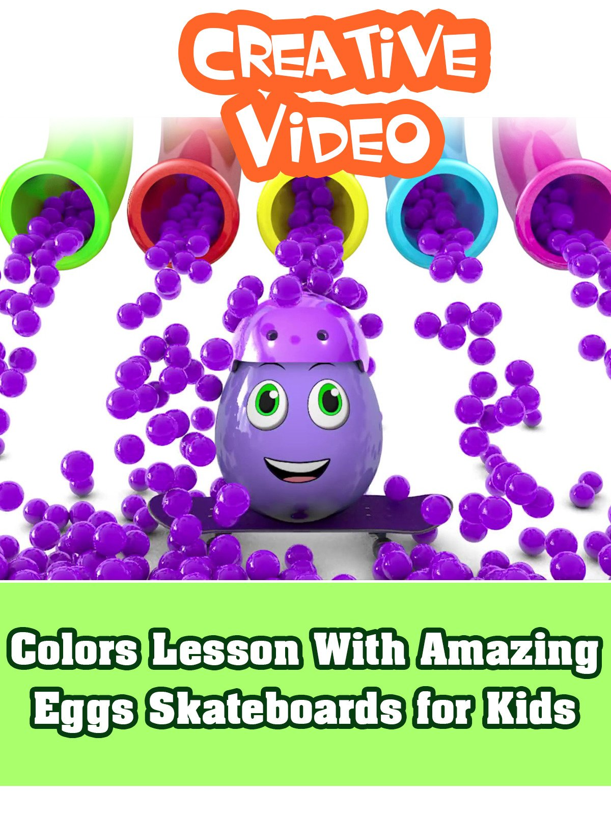 Colors Lesson With Amazing Eggs Skateboards for Kids