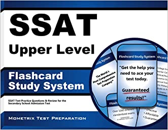 SSAT Upper Level Flashcard Study System: SSAT Test Practice Questions & Review for the Secondary School Admission Test (Cards)