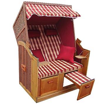 Brubaker 2 Sitzer Strandkorb Bezug Rot Luxusschutzh Lle