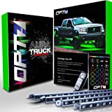 OPT7 Aura All-Color Truck/SUV LED Underglow Lighting Kit w/ Remote - 4 Aluminum Waterproof Glow Bars