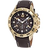 Nautica Men's N18522G NST Gold-Tone Stainless Steel Watch (Color: Gold-Tone)
