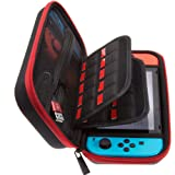 ButterFox Carrying Case for Nintendo Switch, 19 Game Slots and 2 Micro SD Card Holders - Red/Black