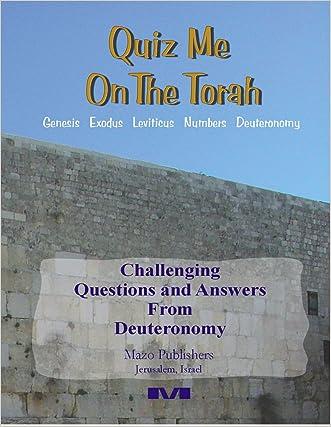 Quiz Me On The Torah - Deuteronomy