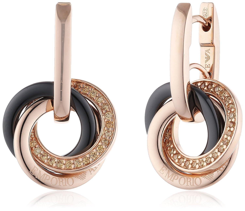 Emporio Armani Damen-Ohrhänger Silber vergoldet Zirkonia creme EG3080221 günstig online kaufen