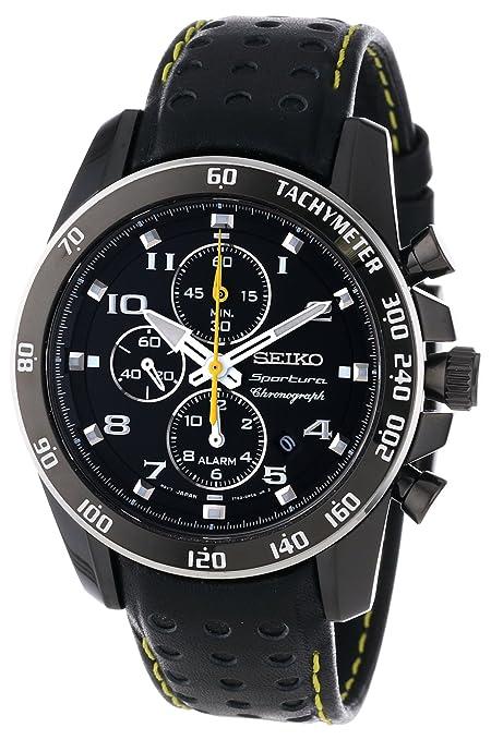 美国amazon手表七折优惠,结算时输入优惠码即可:Seiko Sportura Black Dial Black Leather Band Mens Watch-奢品汇 | 海淘手表 | 腕表资讯