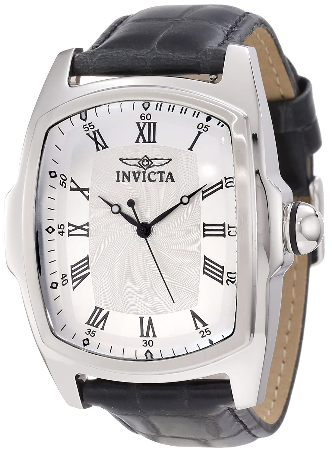 Invicta Men&#8217;s 12849 Lupah Silver Dial Leather Watch Set with Interchangeable Straps$59.99