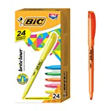 BIC Brite Liner Highlighter, Chisel Tip, Assorted Colors, 24-Count (Color: Assorted, Tamaño: 24-Count)