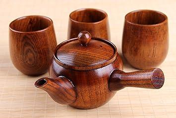 Teekanne 01 Teesieb Kanne Keramik asia chinesisch japanisch blau beige Blume