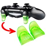 eXtremeRate 2 Pairs Green L2 R2 Buttons Trigger Extenders for Playstation 4 PS4 JDM-030 Controller (Color: JDM-030 Greeb, Tamaño: JDM-030)