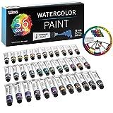 U.S. Art Supply Professional 36 Color Set of Watercolor Paint in Large 18ml Tubes - Vivid Colors Kit for Artists, Students, Beginners - Canvas Portrait Paintings - Bonus Color Mixing Wheel (Color: Watercolor Paint Set, Tamaño: 36 - 18ml Large Tube Colors)