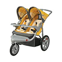 InStep Grand Safari Yellow/Gray Swivel Wheel Double Jogger