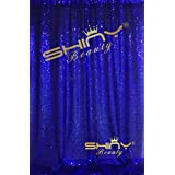 ShinyBeauty 4FTX6FT-Royal Blue-SEQUIN BACKDROP Shimmer Holiday Fabric Backdrops, Sequin Photography, Photo Booth Curtains (Royal Blue) (Color: Royal Blue, Tamaño: 4FTx6FT)