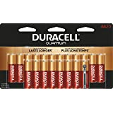 Duracell - Quantum AA Alkaline Batteries - long lasting, all-purpose Double A battery for household and business - 20 count (Tamaño: 20 count)