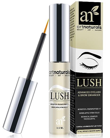 ArtNaturals Eyelash Growth Serum (3.5ml) - Thicker, Longer Eyelashes & Eyebrows Enhancer with LUSH, No Irritation, Dermatologist Tested Product, Revolutionary Pentapeptide-17 & Swiss Apple Stem Cells