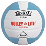 Tachikara Volley-Lite Training Volleyball, Powder Blue/White