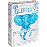 ELEPHANT PLAYING CARDS, Premium Deck of Cards, Cool Intricate Detail, Best Poker Cards, Unique Bright Rainbow & Red Colors for Kids & Adults, Playing Card Decks Games, Standard Size (Color: Tundra)