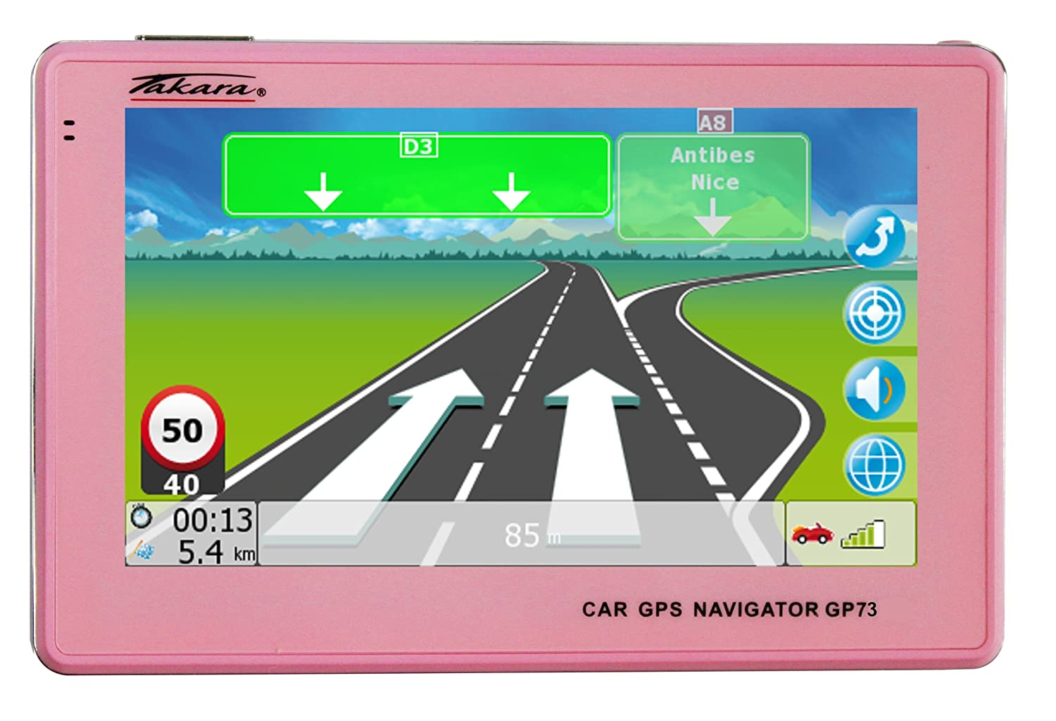 Navigation GPS TAKARA GP73 ROSE EUROPE