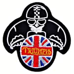 Triumph Motorcycles Vintage Racing Biker Logo Jackets BT18 Iron on Patches