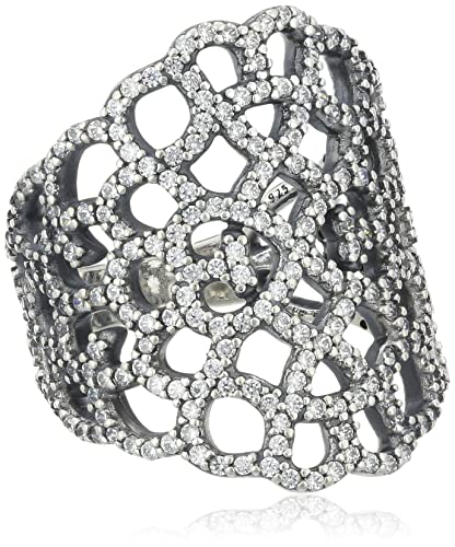 Pandora Women's Ring 925 Sterling Silver with White Zirconia 190907CZ