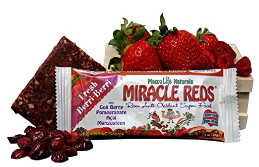 Macrolife Naturals Miracle Red Bar Very Berry 42 g (Pack of 12) [Kohlenhydrate]