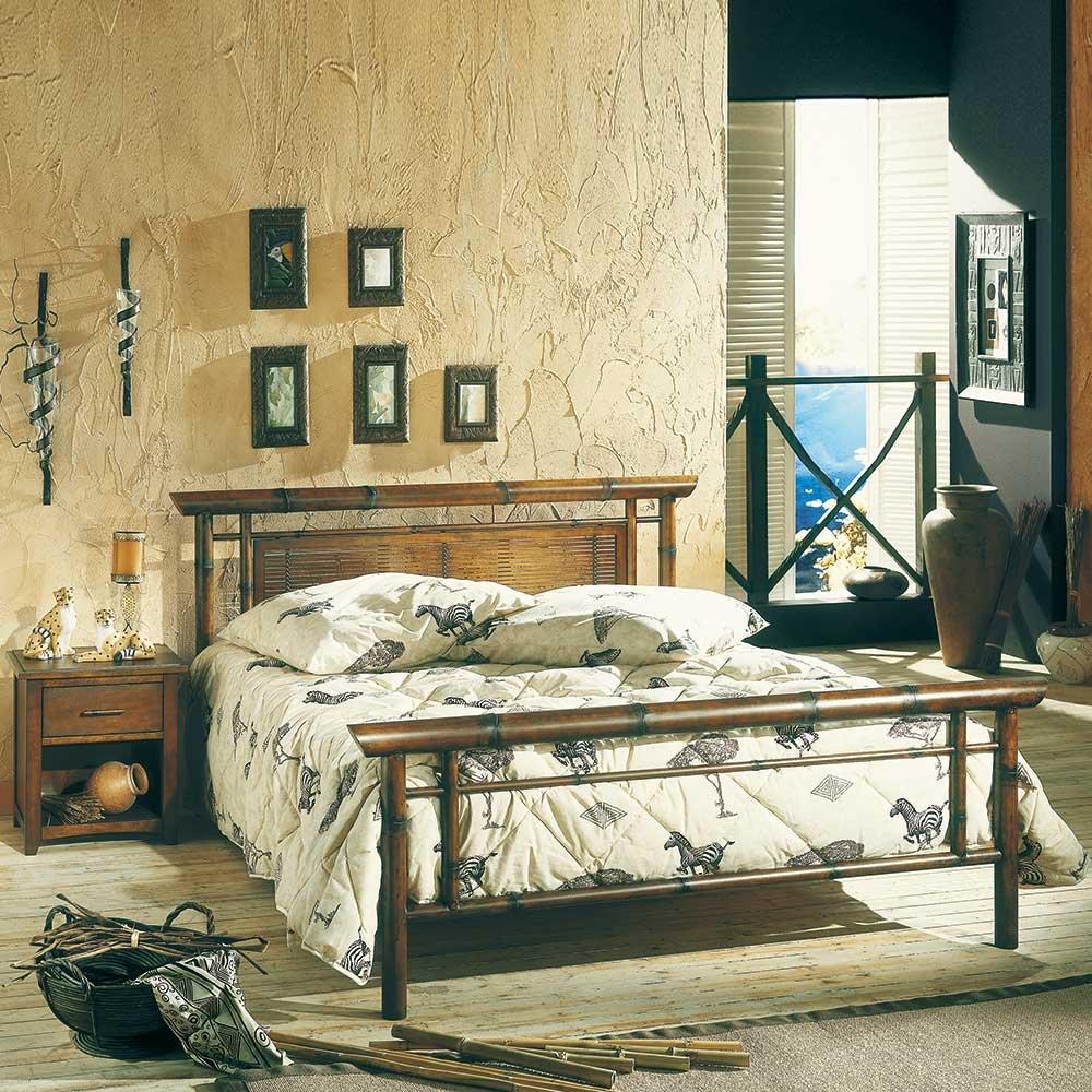 Bett im Asia Design Metall Breite 163 cm Liegefläche 140×200 Pharao24 online kaufen