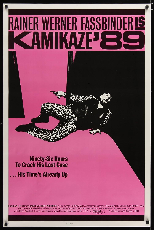 Kamikaze '89 1sh '83 Rainer Werner Fassbinder w/gun,his time's already up
