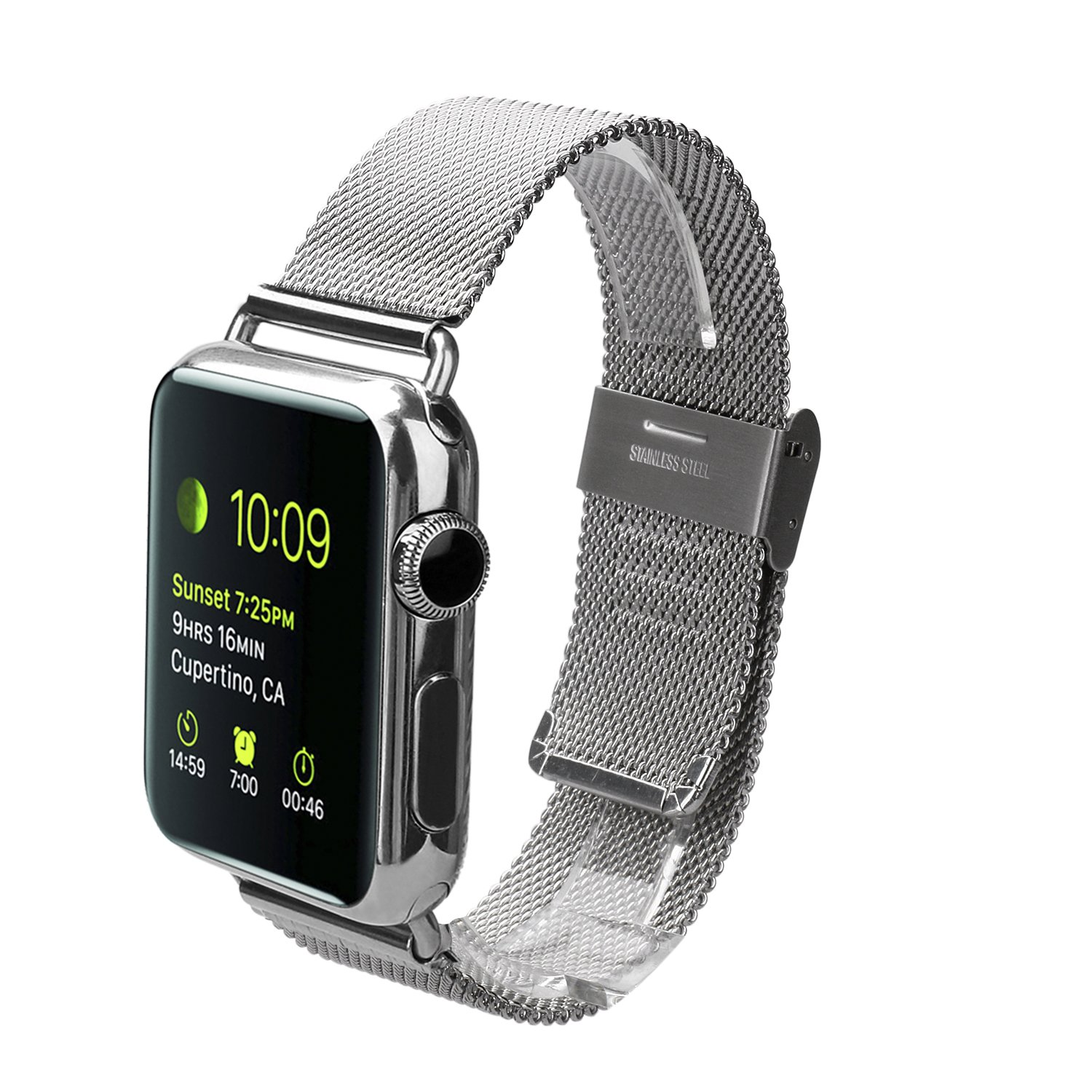 Apple Watch Band, Levin® Milanese Loop Stainless Steel Mesh Replacement Wrist Strap with Metal Connectors for Apple Watch 42mm Edition