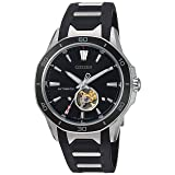 Citizen Men's 'Signature' Mechanical Hand Wind Stainless Steel and Polyurethane Dress Watch, Color:Black (Model: NB4018-04E) (Color: Black)