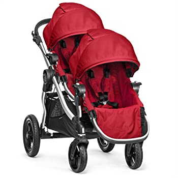 Baby Jogger City Select Stroller with Second Seat, Ruby