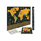Scratch off World Map | Detailed Cartography 24