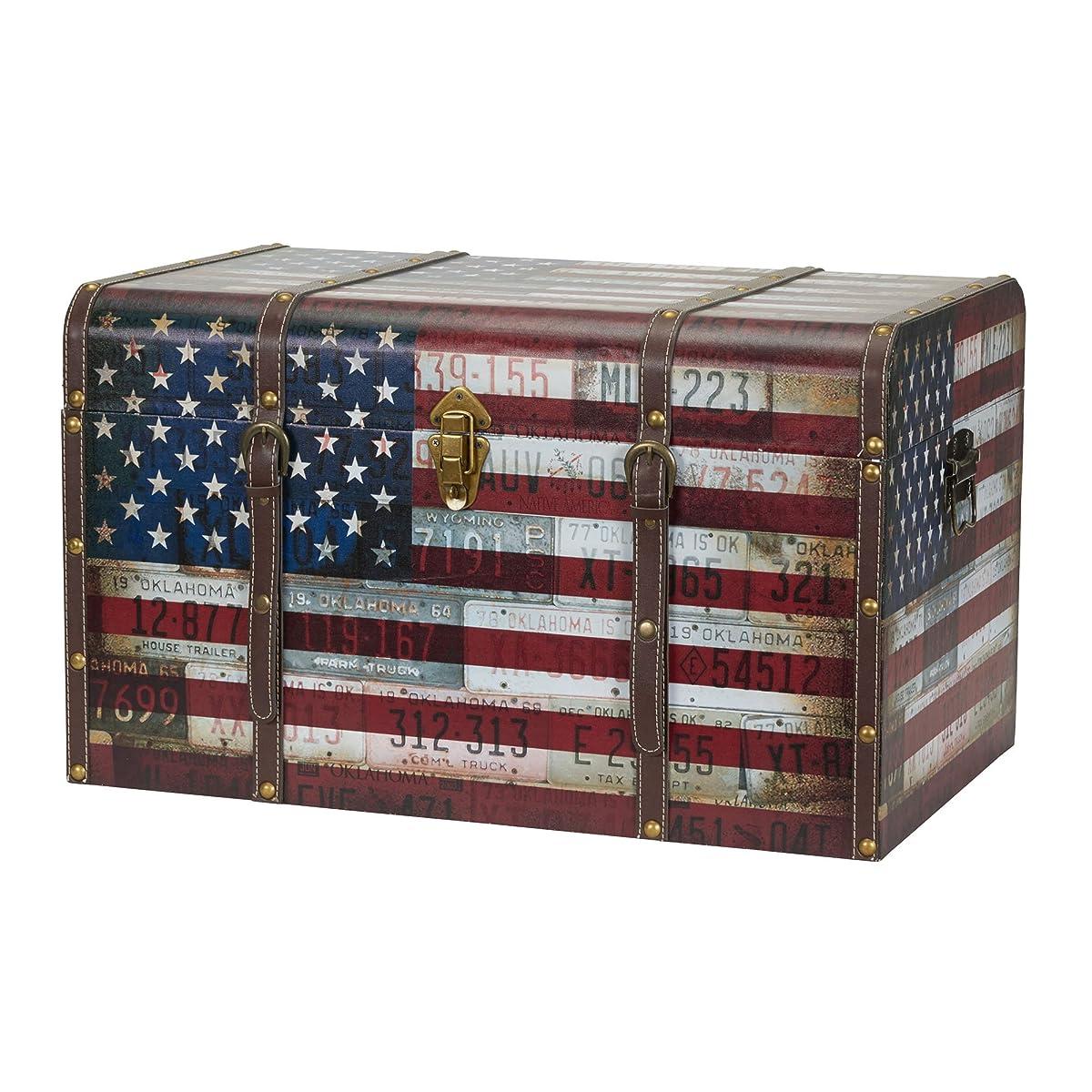 Household Essentials 9203-1 Jumbo Decorative Home Storage Trunk - Luggage Style – Americana Design