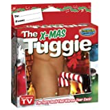The X-Mas Tuggy Fuzzy Underwear, Red/White, One Size (Color: Red/White, Tamaño: One Size)