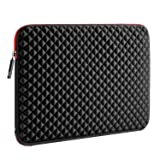 WIWU 17.3 Inch Diamond Laptop Sleeve Case with Water Repellent & Super Corner Protection Laptop Bag for Macbook Pro/Dell Inspiron/MSI/HP Pavilion/Lenovo/Acer(17.3 Inch, Diamond Black) (Color: Diamond Black, Tamaño: 17.3 Inch)