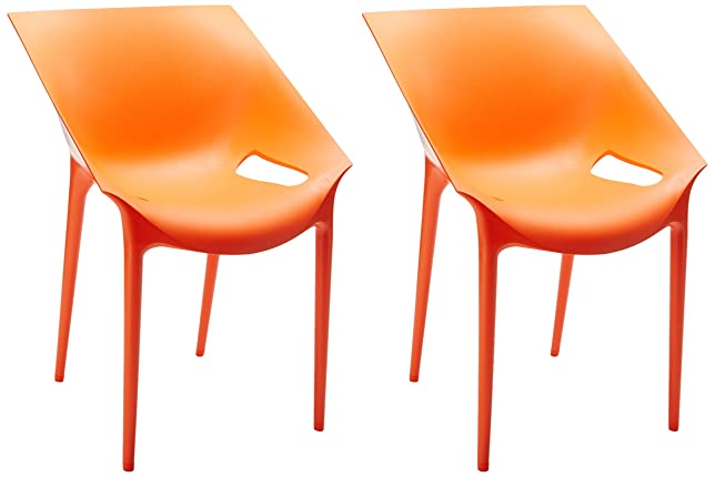 Kartell 5805/10 Dr.Yes Poltrona, Rosso, 2 Pezzi