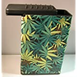 Field Of Marijuana Weed Plant Cigarette Case Flat Slide Top Box Kings 100's