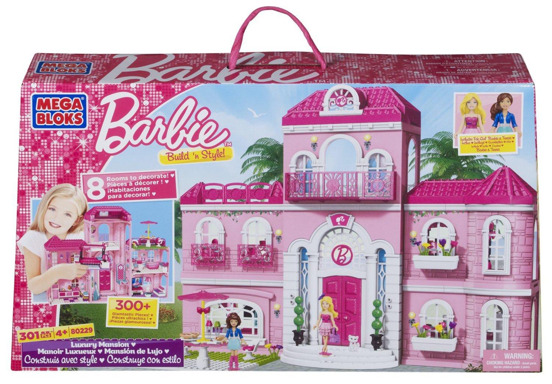 Mega Bloks 80229 – Barbie – Build 'n Style Luxus Villa günstig als Geschenk kaufen