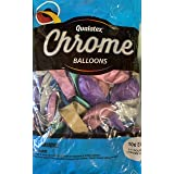 Qualatex Chrome Assorted Solid Shine 11 Inch Latex Balloons 100 Count (Color: Assorted, Tamaño: 11 INCH)