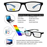 Anti Blue Light Block Glare Pro Computer Adjustable Arm Reader Reading Glasses (Black/Gray, 1.50 Strength) (Color: Black/ Gray, Tamaño: +1.50 Strength)